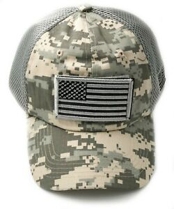 USA Flag Hat Tactical Operate Micro Mesh Military Nice Baseball Cap