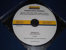 NEW HOLLAND BOOMER 3040 3045 3050 TRACTOR OPERATION & MAINTENANCE BOOK MANUAL