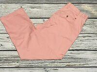 NWT Tommy Hilfiger TH Flex Stretch Custom Fit Chino Pants Pink Mens 42 x 32