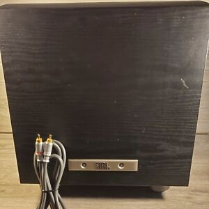 JBL PB10 Powered Subwoofer W/Premium Gold Series Red & White Cables **TESTED**