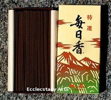 Nippon Kodo MAINICHIKOH Deluxe Kyara Incense 300 Sticks Mainichi koh Aloeswood