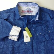 NWT Robert Graham Chiefdom Blue Paisley Classic Fit L/S Sport Shirt~2XL