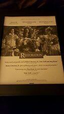 Restoration Robert Downey Jr Meg Ryan Academy Awards Promo Poster Ad Framed! #1