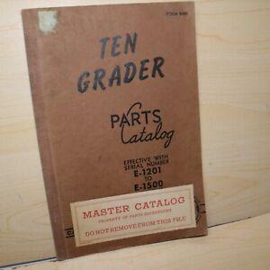 CAT Caterpillar TEN 10 Motor Road Grader Parts Manual Book engine catalog list