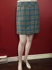 CONTEXT Petite Women's Plaid Wool Skirt - Size 4P - NWT $86