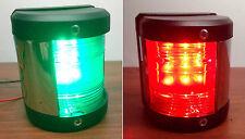 MARINE BOAT GREEN STARBOARD AND RED PORT SIDE LED NAVIGATION LIGHT