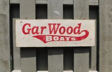 PRIMITIVE VINTAGE GAR WOOD BOATS REPLICA  TRADE SIGN