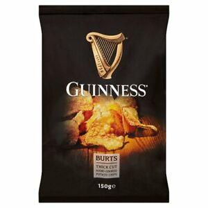 Burts Guinness Potato Chips 150g (Pack of 10)