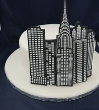 City Skyscraper Handmade Cake Deoration Edible