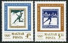 Hungary 2912-2913, MI 3743-3744, MNH. OLYMPHILEX, Lausanne. Skiing, Skating,1985