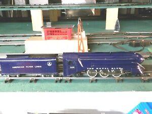 American Flyer 350 S gauge Royal Blue engine & tender restored