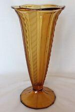 Art Deco Amber Glass 'Brussel' Vase Designed by Brockwitz