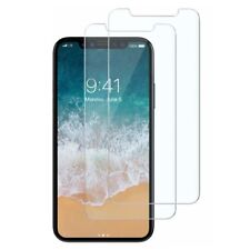 iPhone X Screen Protector Tempered Glass Clear HD Case Friendly Twin Pack