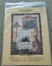New listing Crystal Clear Designs- Kitty Kapers - Flannel Felines Home Alone - Quilt Pattern