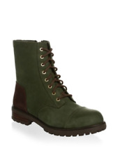 UGG Kilmer Lace-Up Leather Booties Slate Mult Sizes