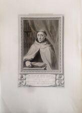 CALAHORRA.  RETRATO DE  Fr, JUAN DE JESÚS MARÍA.  Grabado original 1791-1819,
