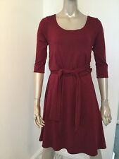 NWT TIFFANY ROSE SIZE 2 MATERNITY DRESS VISCOSE BURGUNDY MADE IN ENGLAND