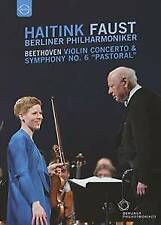 Faust Haitink Berlin Philharmonic Orch - Beethoven: Violin Concerto (NEW DVD)