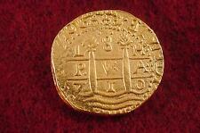 1715 Fleet Coin Reproduction 1710 Lima 8 Escudo