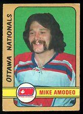 1972 73 OPC WHA O PEE CHEE HOCKEY #291 MIKE AMODEO EX OTTAWA NATIONALS ROOKIE
