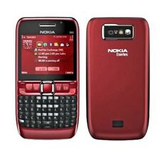 Unlocked Original Nokia E63 QWERTY Keypad WIFI Refurbished  Red 3G Mobile Phone