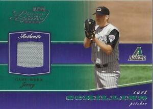 2002 Playoff Piece of the Game Materials #18A Curt Schilling Jersey - NM-MT