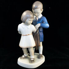 "BOY & GIRL & JACKET Bing & Grondahl NEW NEVER SOLD 6.75"" tall #2312 HH Denmark"