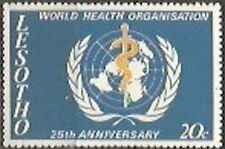 LESOTHO 1973 25th ANNIV (WHO) WORLD HEALTH ORG Sc#131 COMPLETE MNH SET 0937