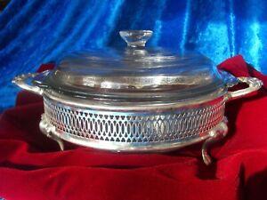 NIB~TOWLE Silver Plate Casserole Dish w/Removable 1.5 QT ovenproof liner & cover