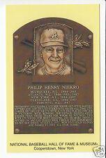 Phil Niekro Atlanta Braves Baseball Hall of Fame -Hof- Plaque New Postcard
