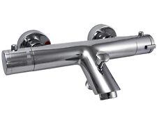 Baño Termostático Relleno ducha mezclador grifo-montado en la pared, Cuerpo De Latón, Cromo