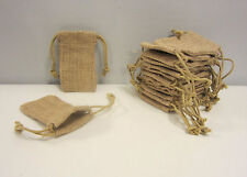 "25 BURLAP JUTE SACKS 3"" BY 5"" WEDDING PARTY FAVOR BAGS WITH DRAWSTRINGS GIFT BAG"