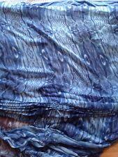 Floral italien pure soie mousseline robe tissu froissé