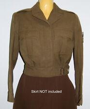 VTG WWII WAC Uniform Womens Wool Field IKE Jacket ETO Sergeant Patches Named