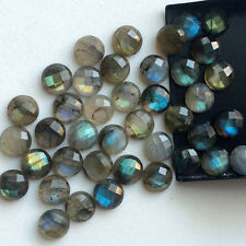 +AAA 20 Pcs 5 mm Faceted Cabs Rose Cut Cutting 100% Natural Labradorite Gems
