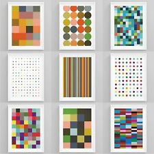 More details for abstract wall art minimalistic colourful framed prints living room nordic decor