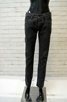 LEE Donna Jeans Taglia 44 Pantalone Pants Woman Casual Slim Vita Alta Nero