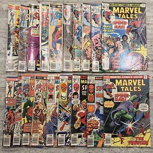 VINTAGE lot of 19 MARVEL comic books SPIDER-MAN 30 Cents!