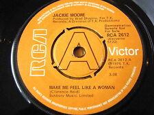 "JACKIE MOORE - MAKE ME FEEL LIKE A WOMAN  7"" VINYL DEMO"