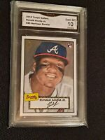 GEM MINT 10 💥 2018 Topps Gallery Heritage #H40 Ronald Acuna Jr RC Rookie PSA ?