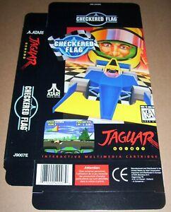 Atari Jaguar 64-Bit Games Console CHECKERED FLAG Game Box NEW P/N J9007E