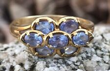 Lovely Genuine Tanzanite 10k Yellow Gold Ring 2.5 Grams Size 8.5