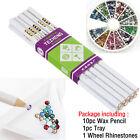 10pc Rhinestones Picker Pencil Wax Pick Up Pen  1800pc Rhinestones  1 Tray Set