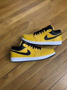 Nike Air Jordan 1 Low UNIVERSITY GOLD / Black 553558-700 Men's Sizes 9.5 -12