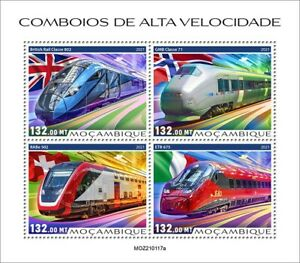 Mozambique 2021 Speed trains. (117a)