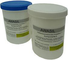 AWASIL 85 Knetsilikon Knetmasse 1:1, 85 Shore 2 x 960 ml  3 kg Abformsilikon