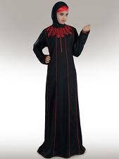 Nurjenna Black Abaya  Jilbab Hijab Islamic Clothing Women Muslim Wear Dress SZ S