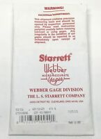 "New Starrett Webber SS .090 A1 Square Steel Gauge Block .090"" Grade 0 Gage"
