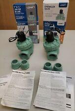 "Lot of-2 Orbit 3/4"" & 1"" Jar Top In-Line Sprinkler Valve Automatic Model:57465"