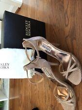 Badgley Mischka Signify Latte Diamond Women's Evening Heels Sandals Size 8 M